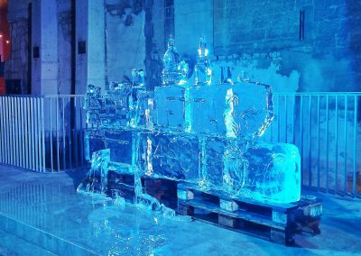 notte-bianca-ice sculpture of Valletta