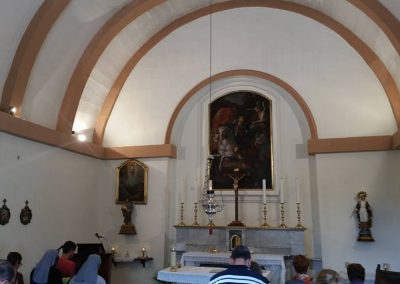 st-george-chapel- on the right of the altar the painting of the Transfiguration dated to the time of the Knights