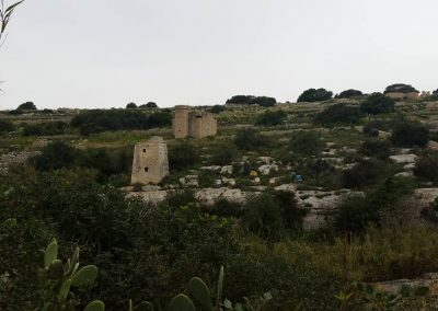 wied-dalam- a watching tower and a pill box