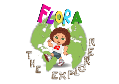 logo flora the explorer for end post