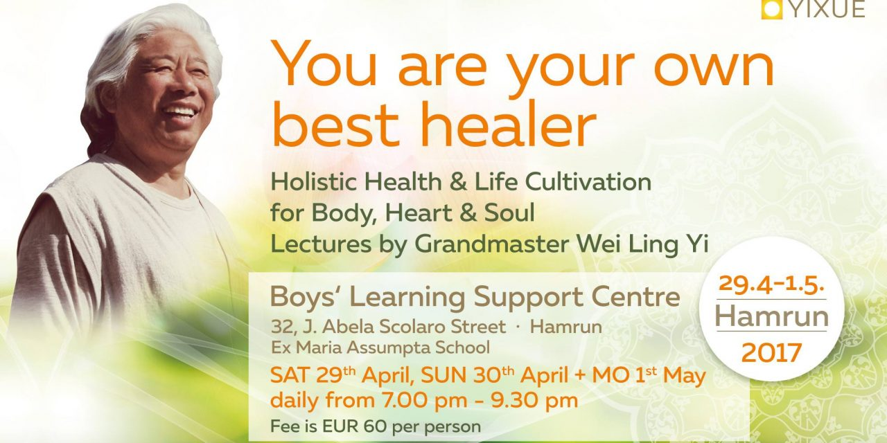 You are your own best healer, Lectures by Grand Master Wei Ling Yi