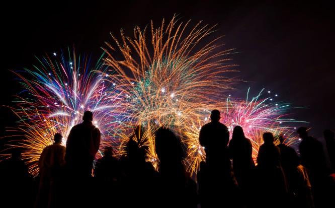 Fireworks And Charity Nightwalk In Rabat.