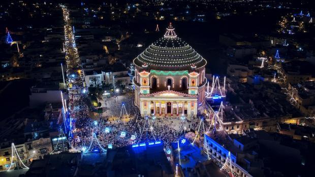 mosta dome during santa marija